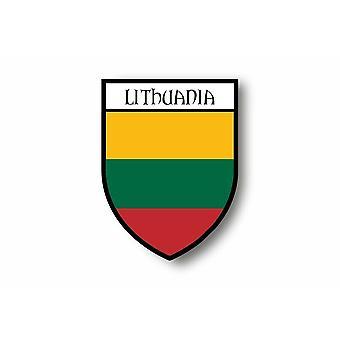 Sticker Sticker Sticker Motorcycle Car Blason City Lithuanian Flag