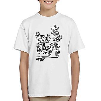 Grimmy Driving Antics Kid's T-Shirt