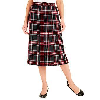 Ladies Womens Box Pleat Skirt 25 Inches