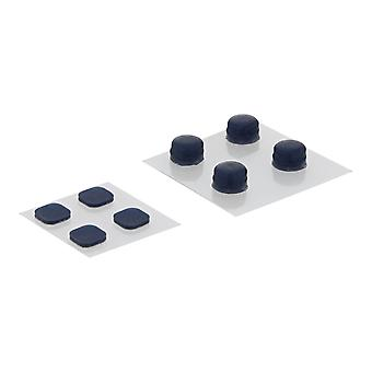 Replacement rubber feet and screw cover set for nintendo new 3ds xl (2015 model) - blue