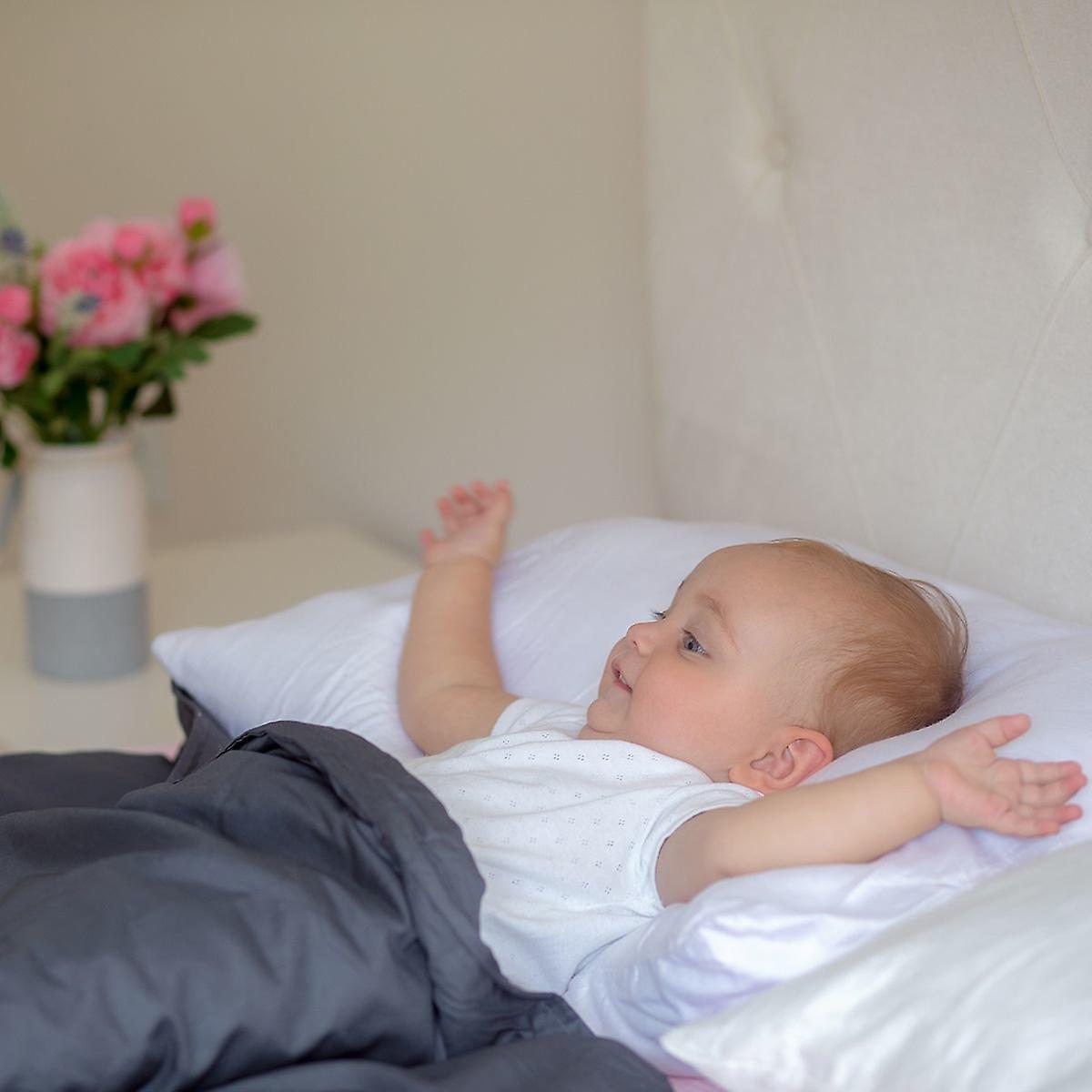 Beckasin Tyngdtäcke för Barn 2,6 kg Vit Bomullssatin – Fritt från polyester