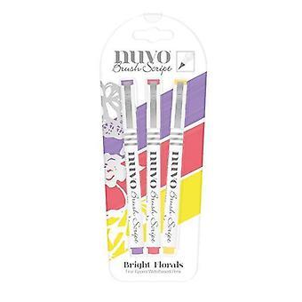 Tonic Studios Nuvo Brush Script Pens - Bright Florals