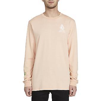 Volcom neue High Score Langarm T-Shirt in Riff rosa