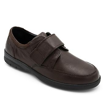 Padders Neon Mens Leather Wide (g/h) Shoes Brown