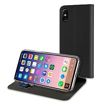 Caixa para porta de placa preta iPhone X / Xs