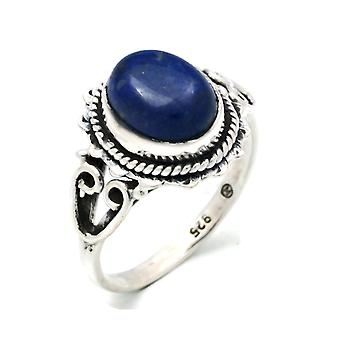 Lapis Lazuli Ring 925 Silver Sterling Silver Silver Women's Ring Blue (IRM 117-06)
