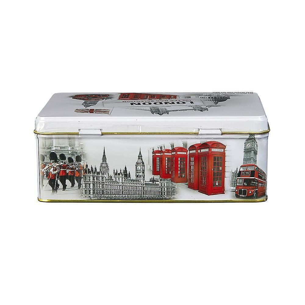Black and white iconic london scenes tea tin 100 teabags