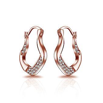 Rose gold vintage hoop earrings created with swarovski® crystals
