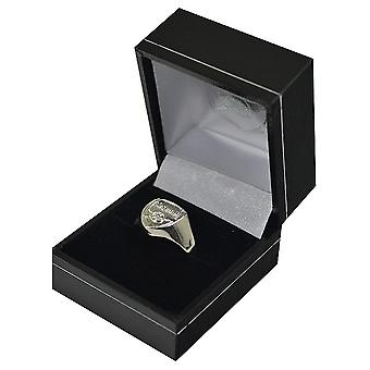Arsenal FC Silver Plated Crest Ring