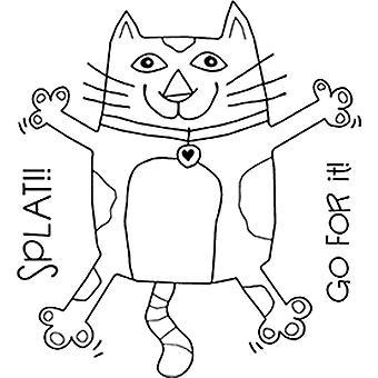 Woodware Clear Singles - Splat Cat