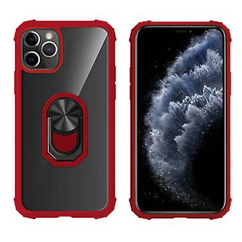 BackCover Ring for Apple iPhone 11 Pro (5.8) Transparent Red