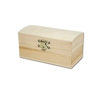 9.5cm Wooden Chest with Clasp to Decorate   Pirate Treasure Chests