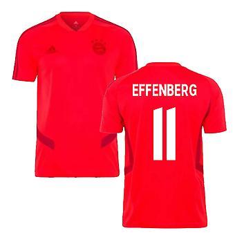 2019-2020 Bayern München Adidas trenings skjorte (rød) (EFFENBERG 11)