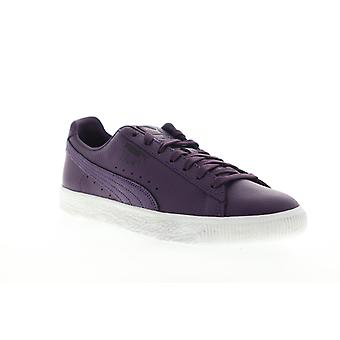 Puma Clyde X PRPS  Mens Purple Leather Low Top Sneakers Shoes