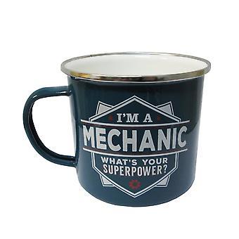 Mécanique d'histoire et d'héraldique Tin Mug 19