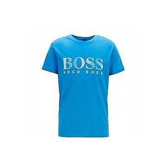 Hugo Boss Leisure Wear Hugo Boss Mens Bright Blue Regular Fit UV Protected T-Shirt