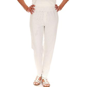 LATTE Latte Trousers T5206 Coffee Or White
