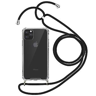 Braided Nylon Cord Case for iPhone 11 Pro Max Neck or Hand Strap- Forcell, Black