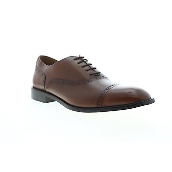 Geox U Saymore  Mens Brown Leather Dress Lace Up Oxfords Shoes