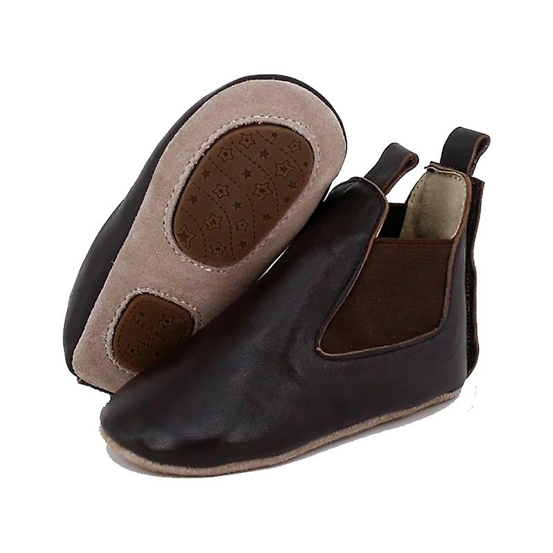 SKEANIE Pre-walker Baby & Toddler Pony Boots in Chocolate Brown