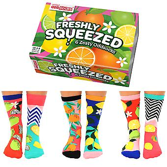 United Oddsocks Women's Freshly Squeezed Socks Gift Set