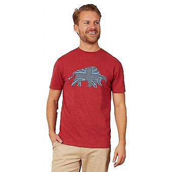 RAGING BULL Raging Bull Embroidered Bull T Shirt