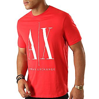 Armani Exchange 8nztpazjh4z1400 Uomini's T-shirt Red Cotton