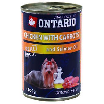 Ontario Hund Kylling / Gulerødder / Laks Olie (Hunde, Hundemad, Våd Mad)
