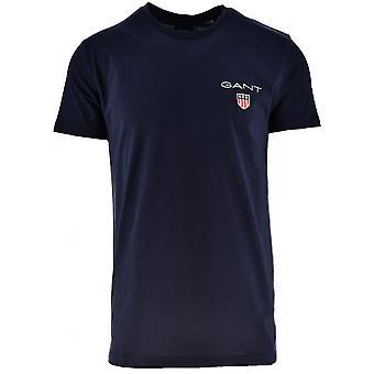 GANT GANT camiseta de cuello redondo en azul marino