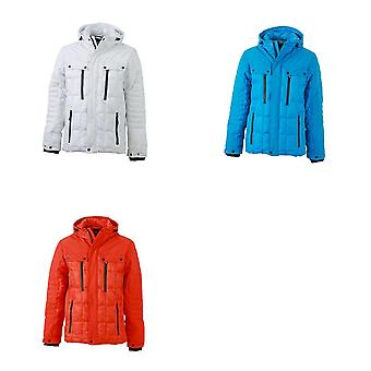 James and Nicholson Mens Padded Wintersport Jacket