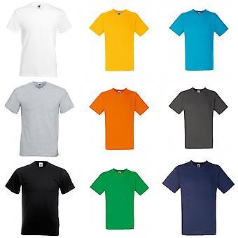 Frukten av den vävstol Mens Valueweight v-ringad, kortärmad T-Shirt