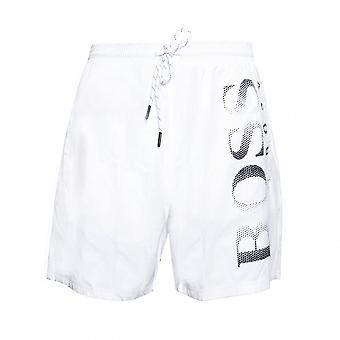 Hugo Boss Leisure Wear Hugo Boss Men's White Octopus Swim Shorts