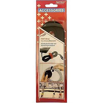 FASTECH® 696-330C Hook-and-loop tape for bundling Hook and loop pad (L x W) 5000 mm x 10 mm Black 5 m