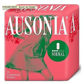 Ausonia Air Dry Compresses Wingless Normal 16 uds