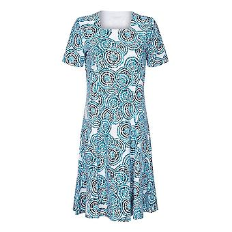 TIGI ホワイト サークル プリント ドレス