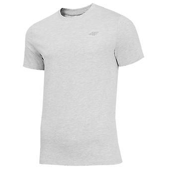 4F TSM003 NOSH4TSM003CHODNYJASNYSZARYMELAN universal summer men t-shirt