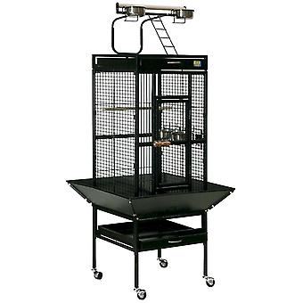 Ica Gray Recess Cage Forge with Foot Ext (Birds , Cages and aviaries , Cages)