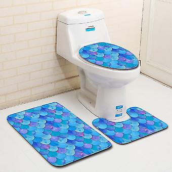 3PC Toilet Mat Fish scale pattern
