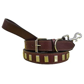 Bradley crompton genuine leather matching pair dog collar and lead set bcdc10maroon