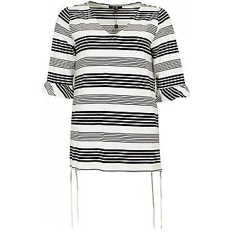 Yest Black & White Striped Top