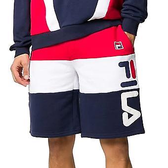 Fila Stu 2 Lm015842 Schnitt & Nähen Farbe Block Sweat Short - rot/weiß/navy