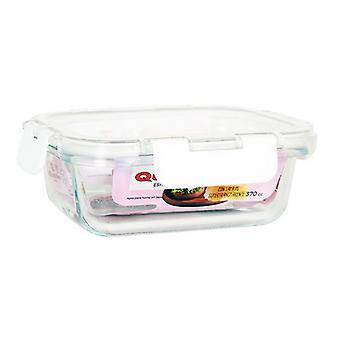 Hermetische lunchbox Quttin Rechthoekig acryl transparant/630cc - 18,6 x 14 x 6 cm