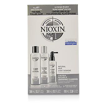 Kit 3 d sistema de cuidados 1 para cabelos naturais, afinamento leve, umidade leve 221154 3pcs