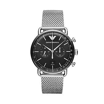 Emporio Armani AR11104 Mens Chronograph Watch - Silver