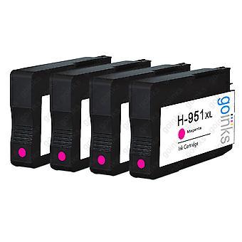 4 Magenta-kompatible HP 951M -printerblækpatroner (HP951XL)