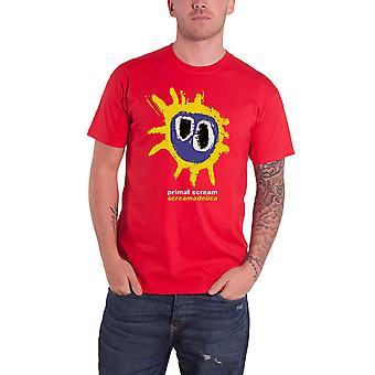 Primal Scream T Shirt Screamadelica Band Logo nouveau officiel Mens Red