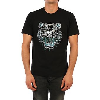 Kenzo Fa65ts0204ya99 Men's Black Cotton T-shirt