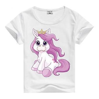 Summer Cotton Short Sleeve T-Shirt, Unicorn, Infant