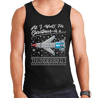 Thunderbirds All I Want For Christmas Is Thunderbird 1 Men's Vest