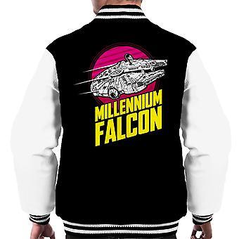 Star Wars Flying Millennium Falcon Men's Varsity Jacket